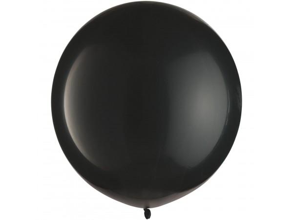 """Amscan 24"""" Jumbo Black Latex Balloons (8 Ct)"""