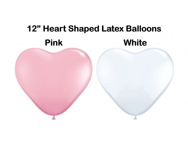 """12"""" Heart Shaped Assorted Latex Balloons (25 Ct)"""