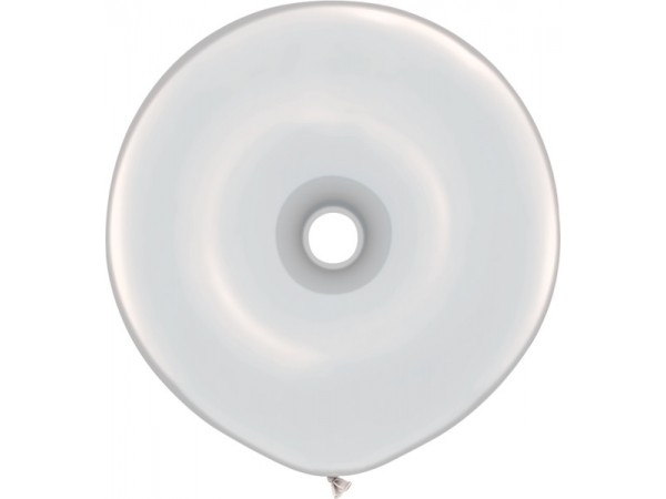 16 Inch Clear GEO Donut Shaped Latex Balloons (25 ct)