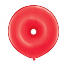 16 Inch Red GEO Donut Shaped Latex Balloons (25 ct)