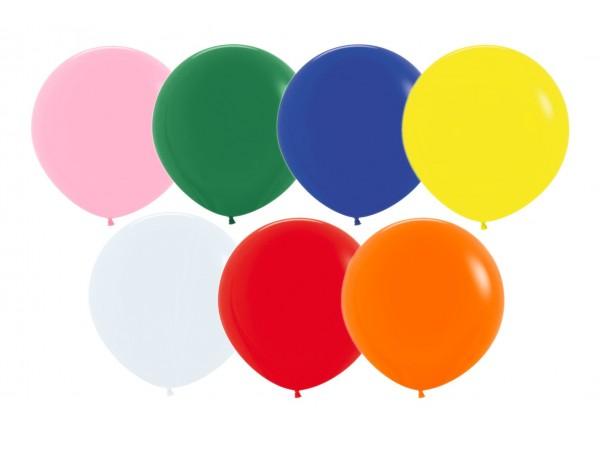 """Ideal 18"""" Standard Assortment Latex Balloons. (72 ct)"""
