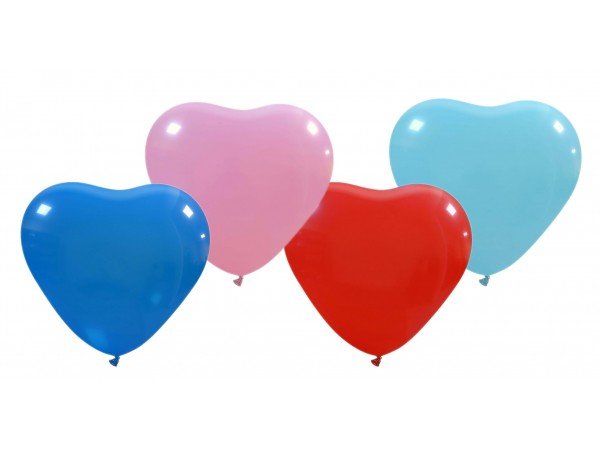 """Cattex 17"""" Heart Shaped Latex Balloons. 10 Count Package"""