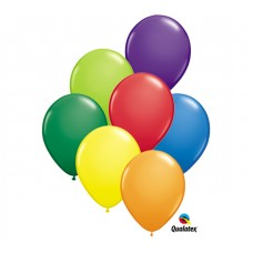 5 Inch Carnival Assortment Latex Balloons (100 ct)