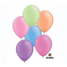 11 Inch Neon Assortment Latex Balloons (100 ct)