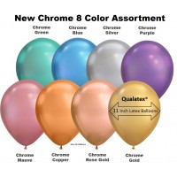 """7"""" Chrome 8 Color Assortment Latex Balloons (100 ct)"""