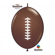 12 Inch Chocolate Brown QuickLink Football Latex Balloons (50 ct)