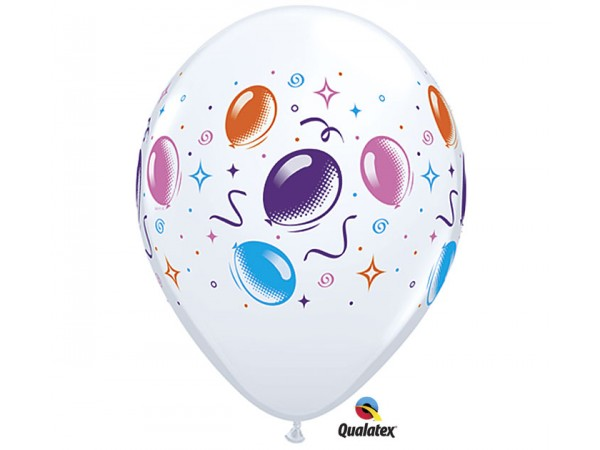 11 Inch Qualatex White Party Balloons & Streamers Latex Balloons (50 ct)