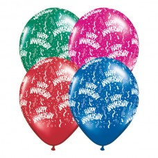 11 Inch Jewel Assortment Anniversary-A-Round Latex Balloons. (50 ct)