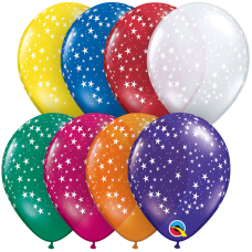 5 Inch Jewel Assortment Stars-A-Round Latex Balloons (100 ct)