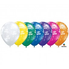 5 Inch Jewel Assortment Birthday-A-Round Latex Balloons (100 ct)
