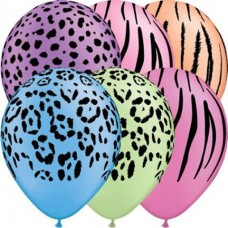 11 Inch Neon Safari Assortment Latex Balloons. (50 Ct)