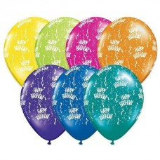 "Qualatex 16"" Fantasy Assortment Birthday-A-Round Latex Balloons (25 ct)"
