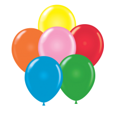 24 Inch Standard Assortment Latex Balloons (25 ct)