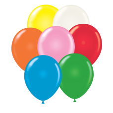 17 Inch Standard Assortment with White Latex Balloons (50 ct)