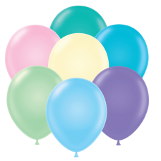 17 Inch Pastel Assortment Latex Balloons (50 ct)
