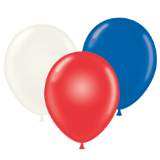 17 Inch Patriotic Assortment Latex Balloons (50 Ct)