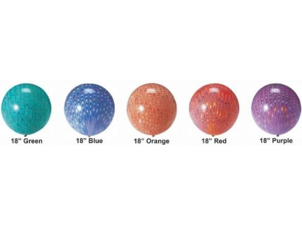 18 Inch Peacock Colors Triple Dipped Latex Balloons (5 Ct)