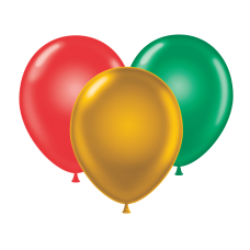 17 Inch Holiday Assortment Latex Balloons (50 ct)