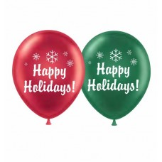 Tuf-Tex 17 Inch Happy Holidays Latex Balloons 50 (ct)