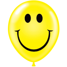24 Inch Color Assortment Smiley Face Latex Balloons (25 ct)