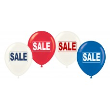 """17"""" Red, White & Blue Sale Tag Latex Balloons (25 ct)"""
