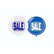 """17"""" Blue & White SALE Tag Printed Latex Balloons (50 ct)"""