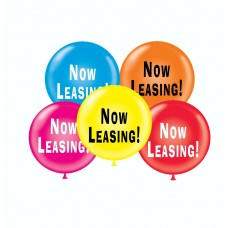 "17"" Now Leasing! Printed Latex Balloons (50 ct)"