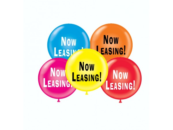 """17"""" Now Leasing! Printed Latex Balloons (50 ct)"""