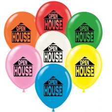 "17"" OPEN HOUSE Printed Latex Balloons (50 ct)"