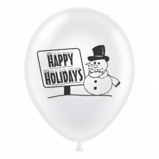 "17"" Happy Holidays Latex Balloons 50 (ct)"