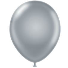 24 Inch Silver Latex Balloons (25 ct)