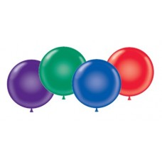 36 Inch Crystal Assortment Latex Balloons (10 ct)