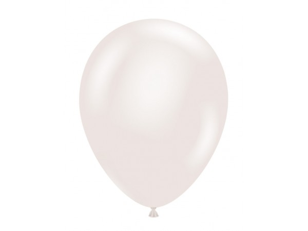 Pearlescent White Latex Balloons - 37